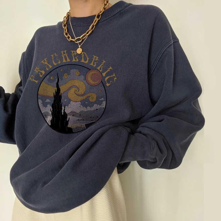 Redbrown Womens Loose Blouse Lapel Pullover Bee Printed Hoodies Sweatshirt